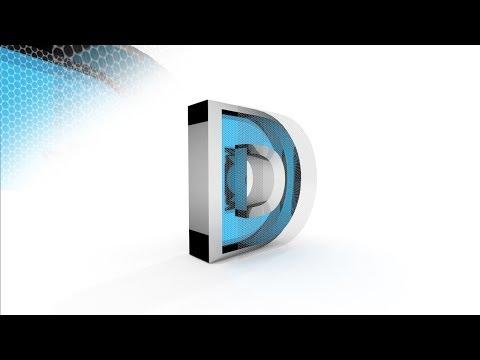 Blender 3D Text Tutorial - Honeycomb Metallic Effect (Cycles)