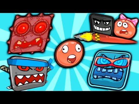RED BALL 4 Самое Полное Прохождение   игры КРАСНЫЙ ШАРИК все серии подряд детское видео #ФГТВ