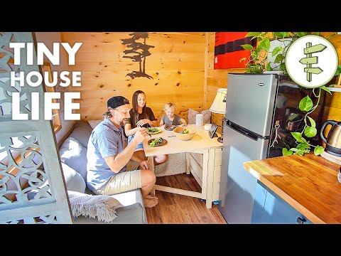 Minimalist Family Living in a Perfectly Customized Tiny House on Wheels