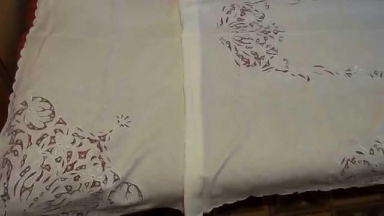Машинная вышивка ришелье видео