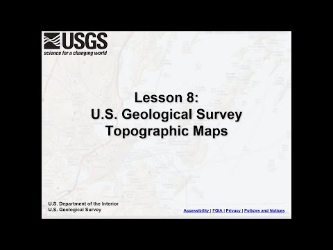Lesson 8: U.S. Geological Survey Topographic Maps