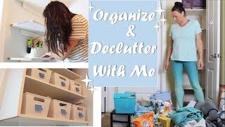 ORGANIZE AND DECLUTTER WITH ME | BUILD STOARGE SHELVES | LAUNDRY ROOM | LINEN CLOSET
