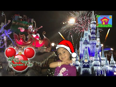 BEST CHRISTMAS PARTY EVER! Mickey's Very Merry Christmas Party Parade Fireworks Frozen Holiday Wish