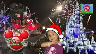 Hailey's Christmas Vacation Family Vlog | Mickey's Very Merry Christmas Party Parade!