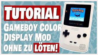 Gameboy Color Backlight M๐d ohne zu löten - So geht's!