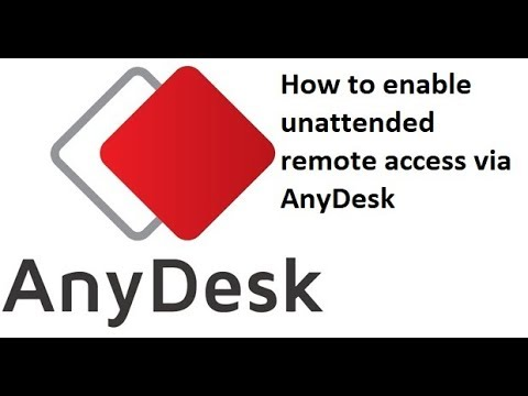 Anydesk install and unattended access with password