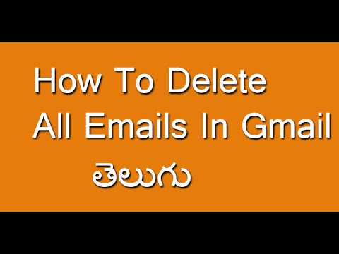 How To Delete All Emails In Gmail Telugu - YouTube