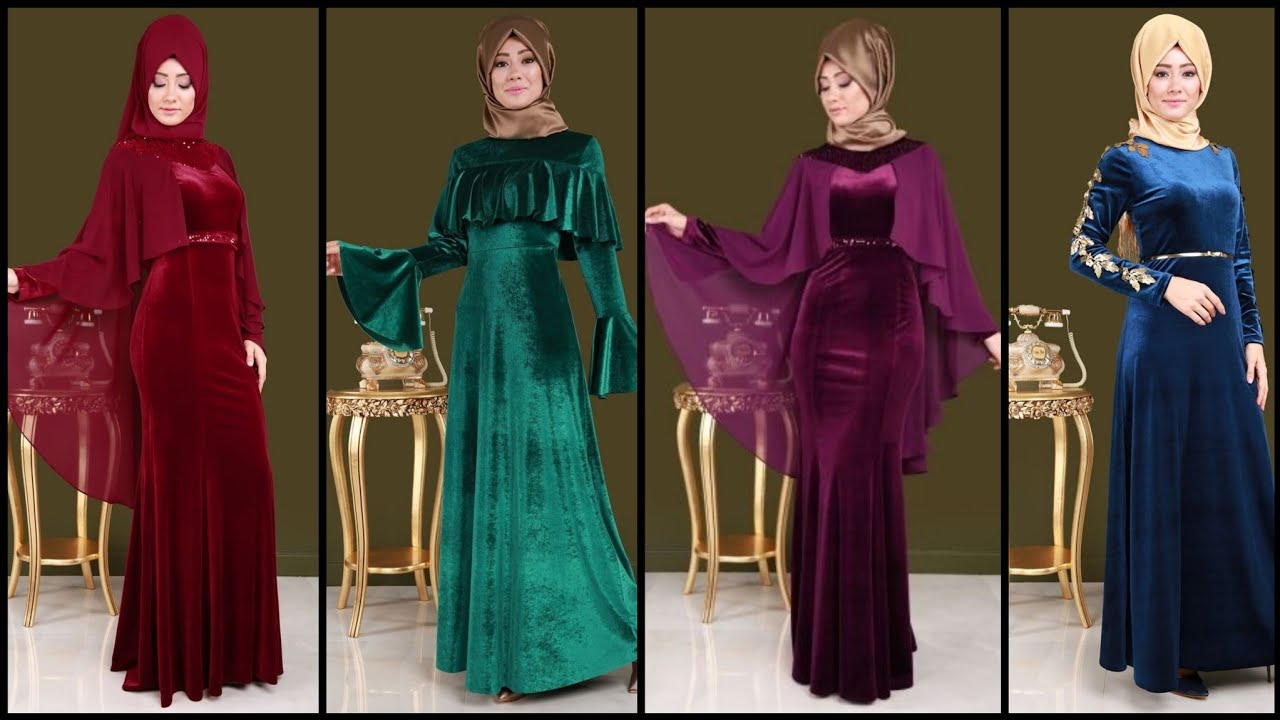 Modest & Trendy Velvet Abaya Designs/Dubai Abaya/IslamicVelvet Abaya/Arabic Dress