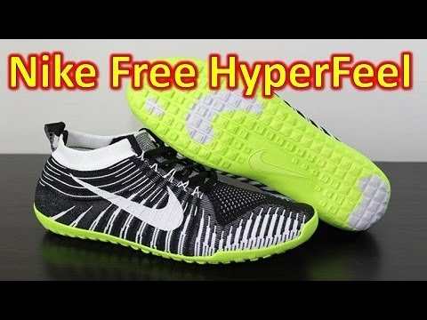 buy popular 5213c c3de9 Nike Free Hyperfeel Run Black White Volt - Unboxing + On Feet - YouTube