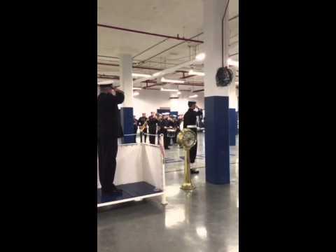 Sarnia Sea Cadets Play Canadian National Anthem