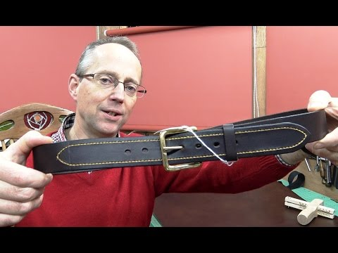 Making A Leather Belt With Attractive Hand Saddle Stitching Detail viewable in WQHD