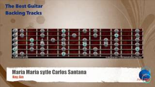 Maria Maria style Carlos Santana Guitar Backing Track with scale map