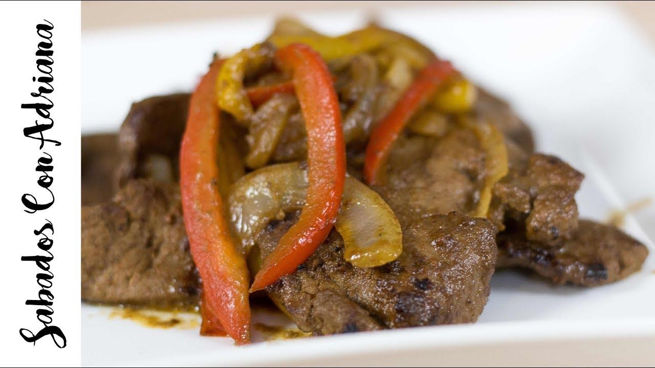 C mo preparar h gado encebollado sabados con adriana for Cocinar higado