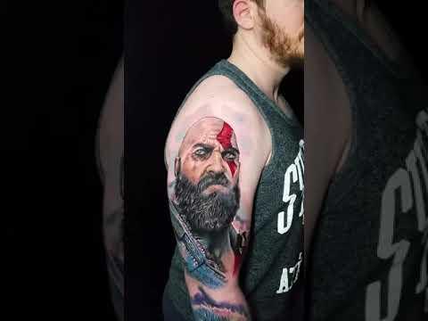 Kratos Tattoo God Of War Marie Terry Youtube