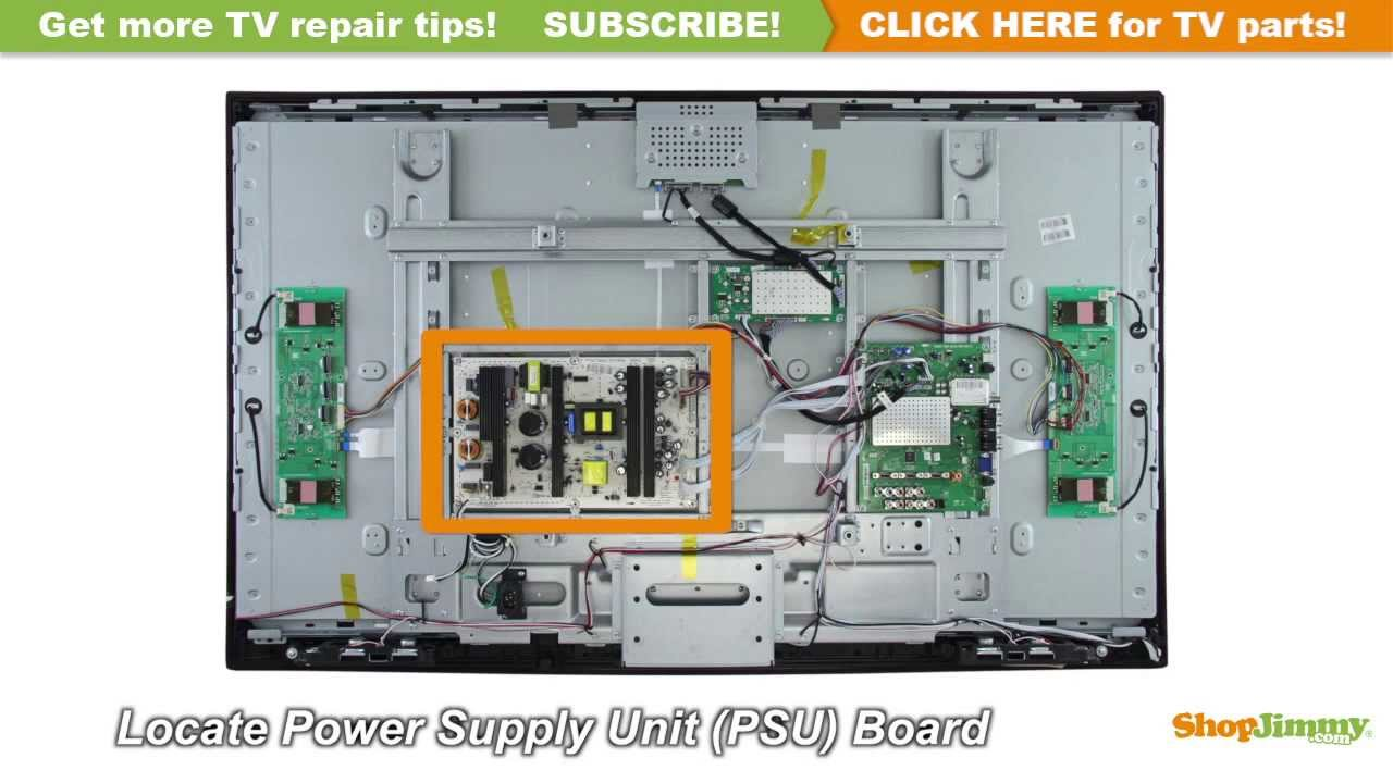 hight resolution of proscan rca 123882 power supply unit psu boards replacement guide for lcd tv repair youtube