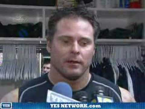Jason Giambi after the game, 4/1/08