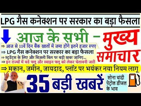 Today Breaking News ! आज के मुख्य समाचार, बिजली बिल,  LPG  गैस PM Modi Petrol, Bank, Budget, SC