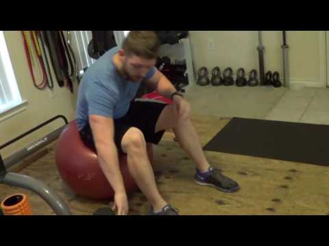 How to Perform DB Swiss Ball Press