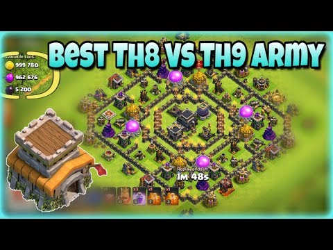 Clash Of Clans (2) - The Best Townhall 8 Farming Army! - TH8 Vs TH9