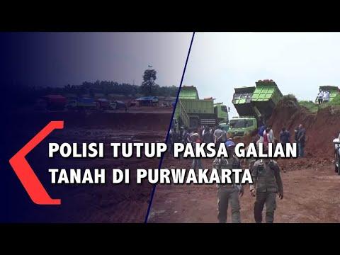 Polisi Tutup Paksa Galian Tanah Di Purwakarta