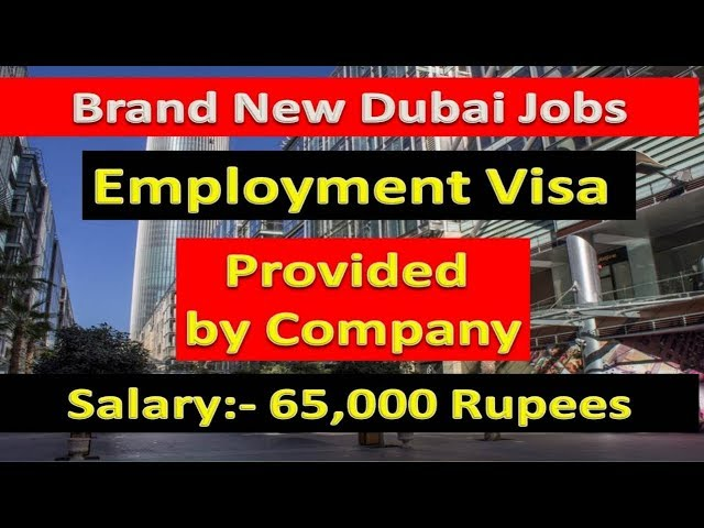 65,000 Rupees Salary  Jobs In Dubai Apply Now Fast  2019