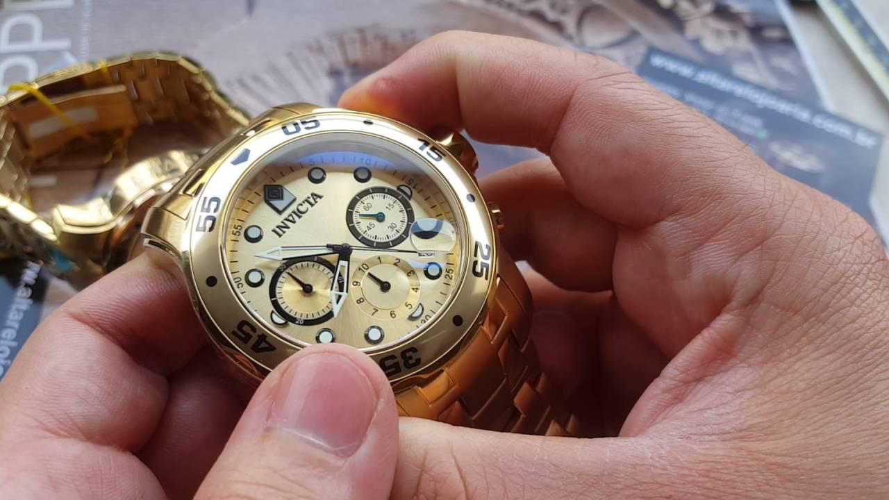 5b656c785df Relógio invicta pro diver 0074 como ajustar ponteiro vs pro diver  referência 80071