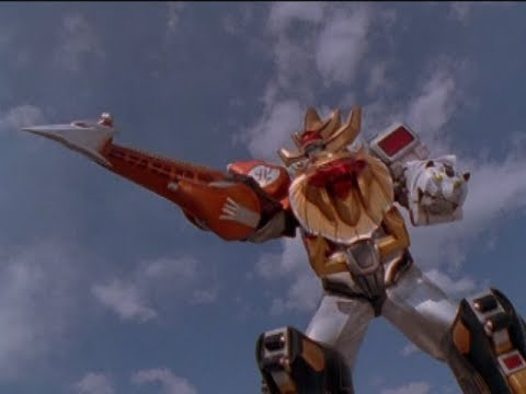 Power Rangers Wild Force - Wild Force Megazord Spear Mode | Giraffe Zord
