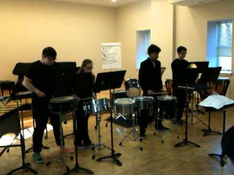 settlement music school percussion ensemble performance, 2011