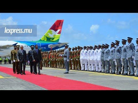 Danny Faure, le président des Seychelles, en visite officielle à Maurice