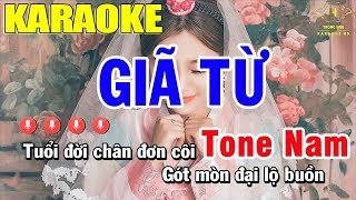 Karaoke Giã Từ Tone Nam Nhạc Sống Đàn EA7 | Trọng Hiếu
