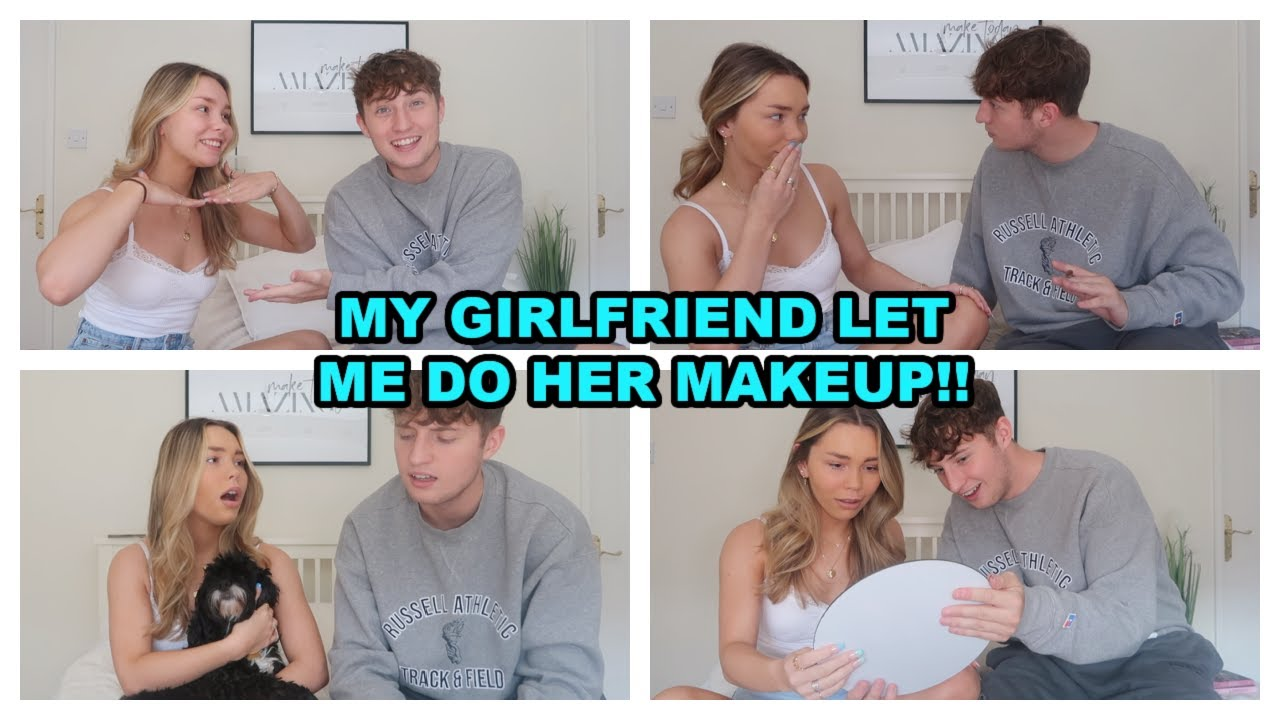 MY GIRLFRIEND LET ME DO HER MAKEUP!! (SHE'S NOT HAPPY)