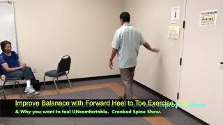 Best Heel to Toe Exercise to Help Balance. Clip from Gibson Aug '19.