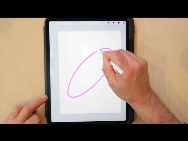 Procreate erklärt:  Linien, Kreise und Ellipsen