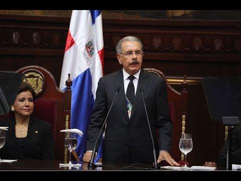 Discurso completo  del presidente Danilo Medina ante la Asamblea Nacional 2018