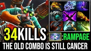 Epic 34Kills + RAMPAGE THE OLD COMBO IS STILL CANCER - Gyrocopter + IO TP EveryWhere By Moo   Dota 2