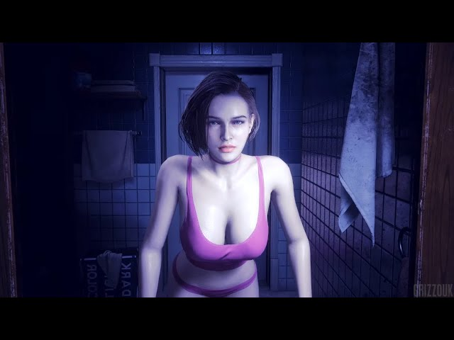 Resident Evil 3 Remake Jill Valentine in Thicc Shaky Nightwear PC Mod