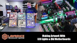 Making Artwork with LED Lights and Old Motherboards
