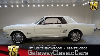 1966 Ford Mustang Stock #7113 Gateway Classic Cars St. Louis Showroom