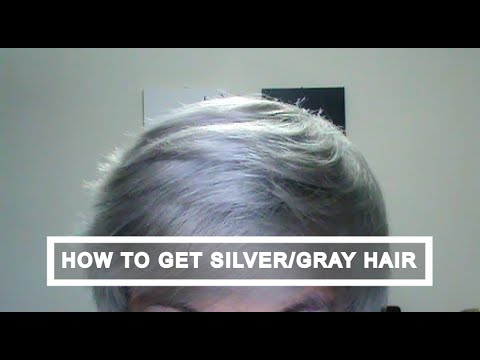 how to silver white gray hair tutorial youtube