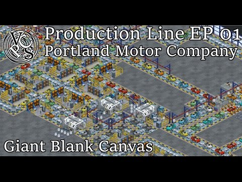 Let's Play Production Line Alpha 1.11 EP01: Portland Motor Company - Car Factory Tycoon