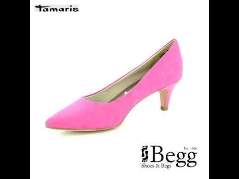 Tamaris Fatsa 22415 22 513 Fuchsia heeled shoes