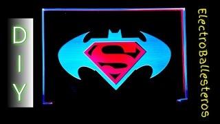Velador Acrilico RGB de 2 Colores - SuperHeroes / Acrylic Watchman 2 RGB Colors
