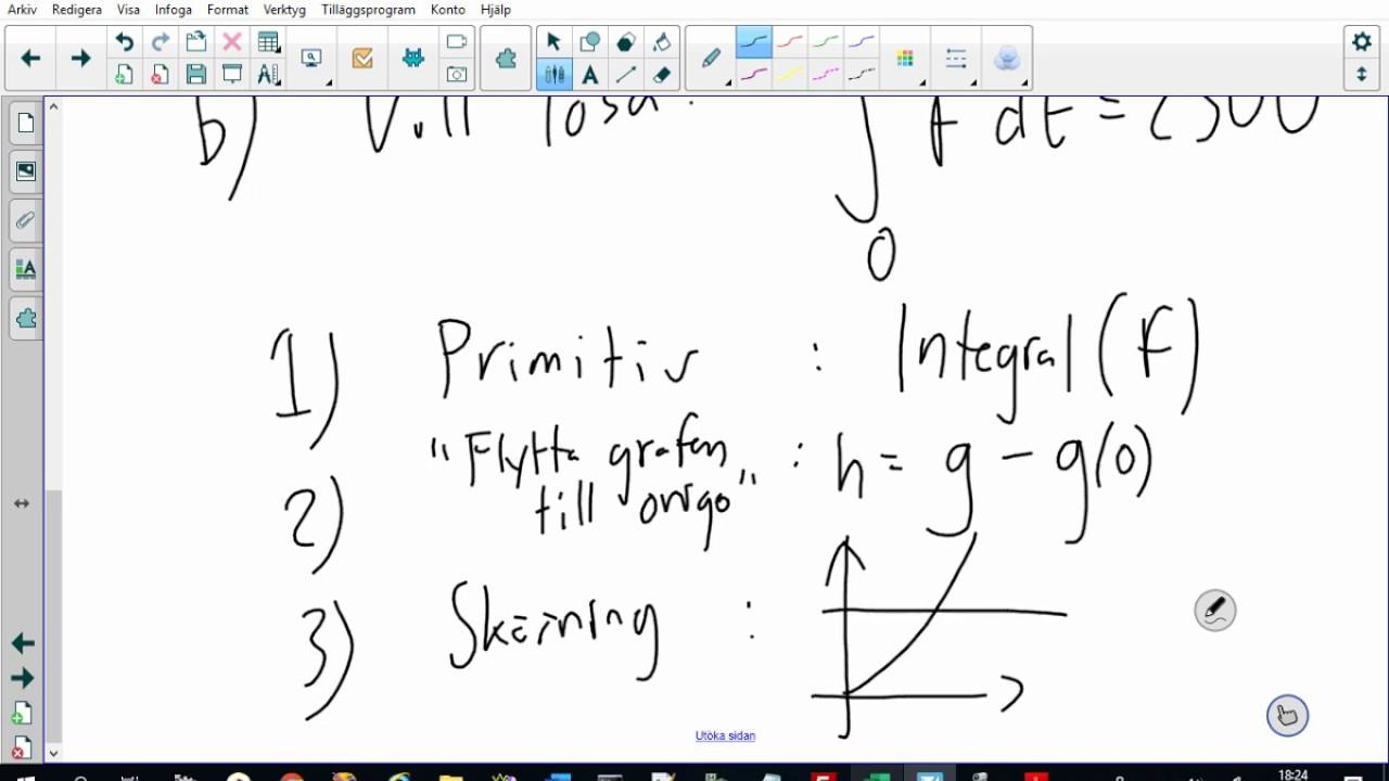 Matematik 4 - Problemlösning med integraler - med Geogebra (5.5)