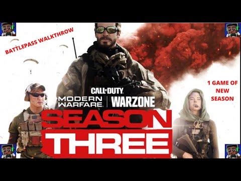 Season 3 Battle Pass and New Map Walk Through | Modern Warfare Update | 1st Game Of New Season Win !