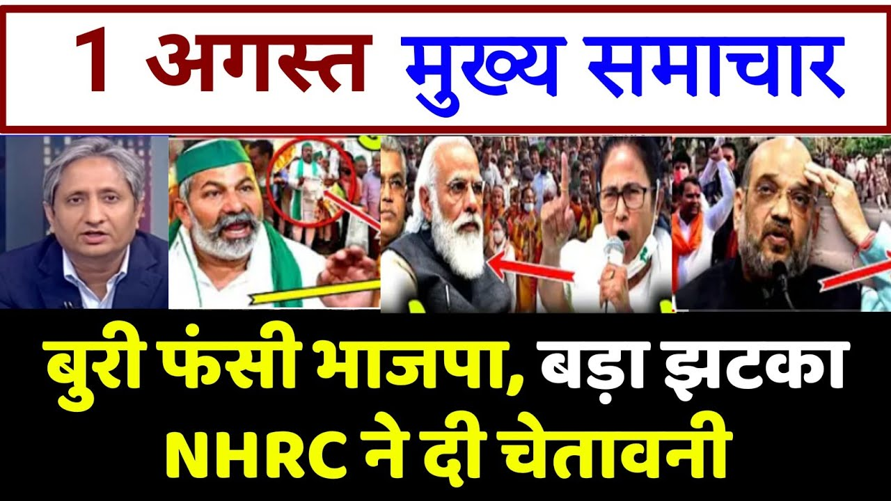 BJP को झटका, मानवाधिकार आयोग से चेतावनी। top today breaking news, UP election, akhilesh yadav,yogi