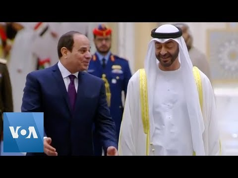 Egyptian President Sissi Welcomed by Abu Dhabi Prince Nahyan