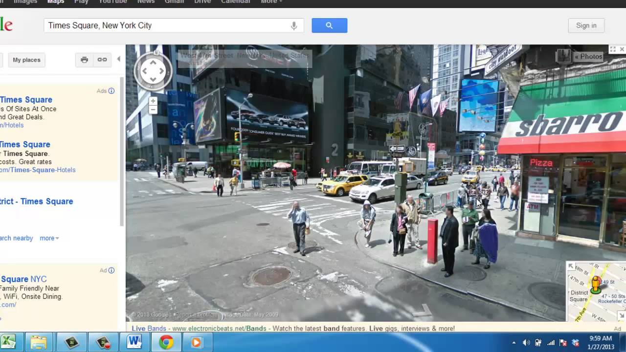 Google earth real time street view
