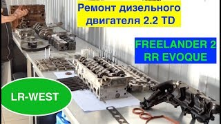 Капітальний ремонт дизельного двигуна 2.2 на Фрілендер 2 і Рендж ровер ЭВОК.