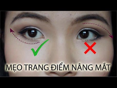 Cách trang điểm nâng mắt (Cho mắt mí lót/mắt trĩu)
