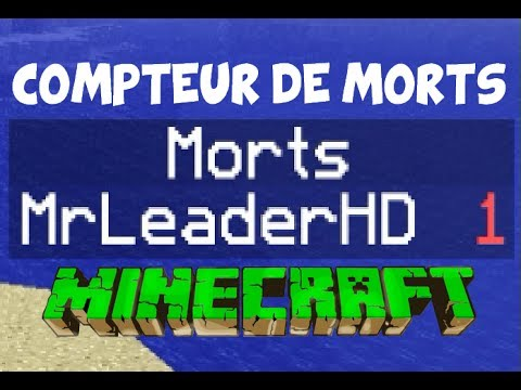 compteur de morts tableau dans minecraft 1 8 1 7 4 1 7 2 tutoriel par mrleaderhd youtube. Black Bedroom Furniture Sets. Home Design Ideas